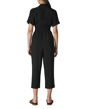 Whistles - Lidia Short-Sleeve Cropped Jumpsuit