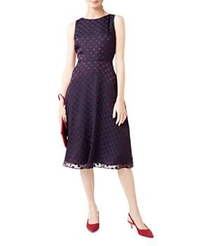 HOBBS LONDON - Adeline Polka Dot Burnout Dress