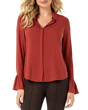 Liverpool Pleated-Cuff Top-Women