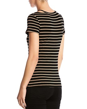 Bailey 44 - Rebecca Cutout Striped Tee
