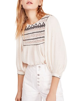 Free People - Cyprus Avenue Embroidered Top