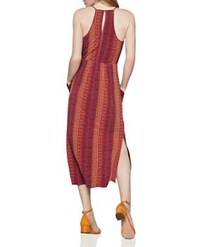 BCBGENERATION - Tile-Stripe Faux-Wrap Midi Dress