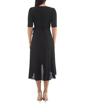 B Collection by Bobeau - Lumi Elbow-Sleeve Wrap Dress