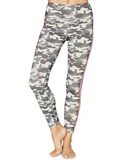 Spiritual Gangster - Perfect Metallic-Stripe Camo Leggings