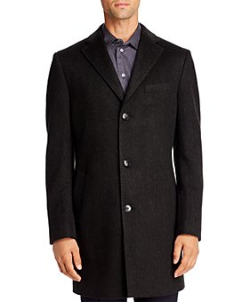 Cardinal Of Canada - Tonal Herringbone Regular Fit Topcoat