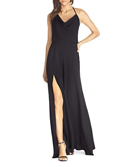 Dress the Population - Cheyenne Cowl Halter-Neck Gown