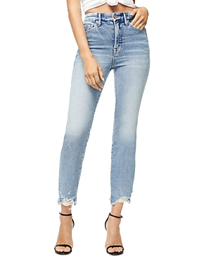 Good American Good Curve Fray Jeans in Blue313-Women