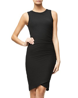 Good American - Bodycon Tulip-Hem Tank Dress