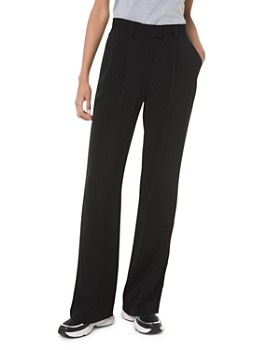 MICHAEL Michael Kors - Tonal Checkerboard Wide-Leg Pants