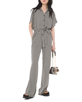 MICHAEL Michael Kors - Striped Belted Jumpsuit