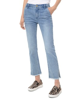 MICHAEL Michael Kors - MICHAEL Michael Kors Drain High-Rise Cropped Flared-Leg Jeans in Angel Blue Wash