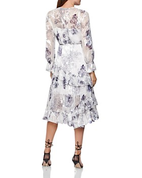 REISS - Annabell Silk Blend Floral Dress