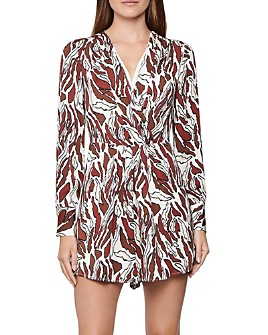 REISS - Tara Animal-Print Romper