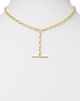 Zoë Chicco - 14K Yellow Gold Faux Toggle Y Necklace, 16""