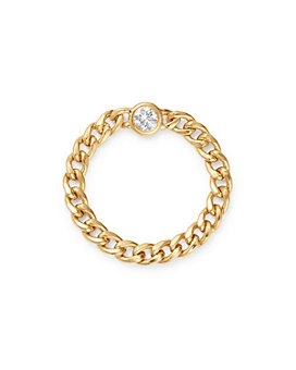 Zoë Chicco - 14K Yellow Gold Diamond Chain Ring