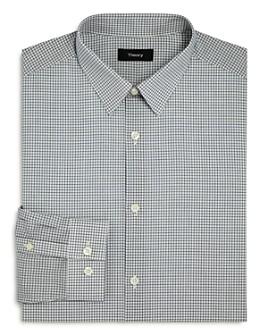 Theory - Cedrick Poplin Grid Check Slim Fit Dress Shirt