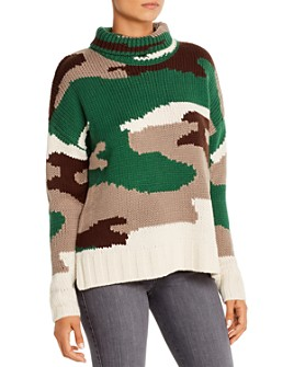 525 America - Camouflage Turtleneck Sweater