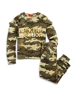Butter - Girls' Weekend Warrior Camo Sweatshirt & Pants Set - Little Kid