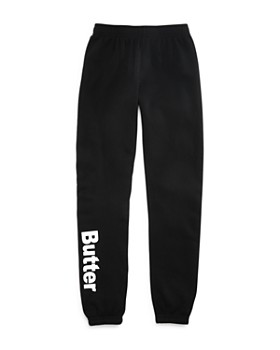 Butter - Girls' Logo Fleece Sweatpants - Little Kid, Big Kid