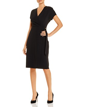 T Tahari - Faux-Wrap Dress