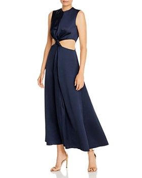 Amur - Inara Sleeveless Satin Cutout Dress