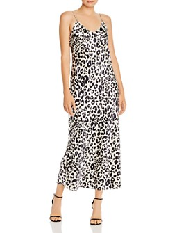 Anine Bing - Rosemary Silk Leopard-Print Slip Dress