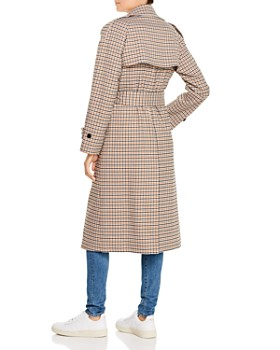 Anine Bing - London Plaid Trench Coat