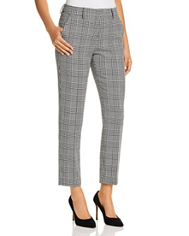 T Tahari - Herringbone Straight Ankle Pants