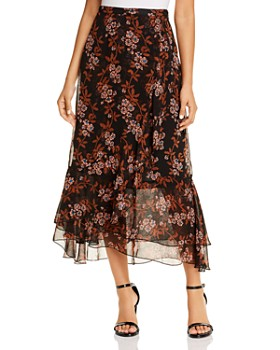 Scotch & Soda - Floral-Print Maxi Skirt