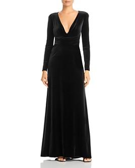 Armani - Velvet V-Neck Gown
