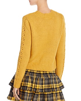 AQUA - Lace-Knit Sweater - 100% Exclusive