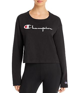 Champion Logo Cropped Tee