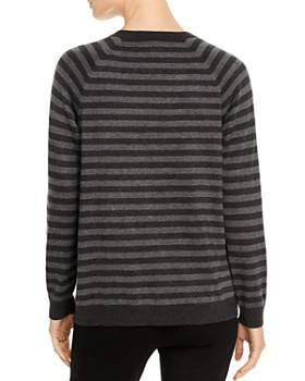 Eileen Fisher - Striped Raglan-Sleeve Sweater