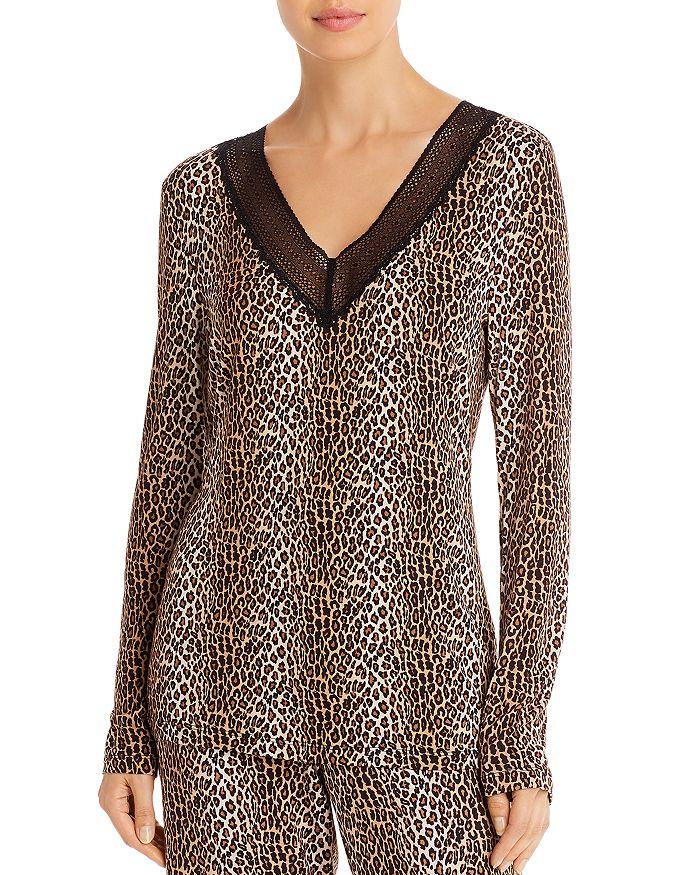Cosabella - Sabrina Leopard Long Sleeve Pajama Top