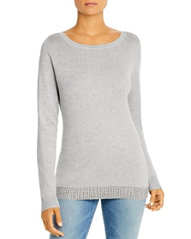 Sioni - Embellished-Hem Boatneck Sweater