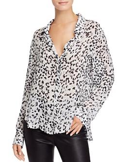 Bella Dahl - Abstract Leopard-Print Shirt