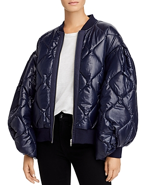 Clu Too Quilted Balloon-Sleeve Bomber Jacket