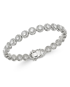 Bloomingdale's - Diamond Halo Tennis Bracelet in 14K White Gold, 8.0 ct. t.w. - 100% Exclusive