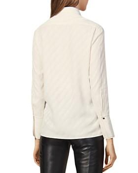 Sandro - Diana Stripe-Jacquard Shirt