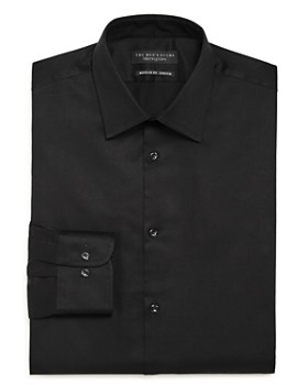 The Men's Store at Bloomingdale's - Solid Stretch Regular Fit Dress Shirt