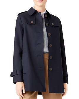 HOBBS LONDON - Chrissie Single-Breasted Trench Coat - 100% Exclusive