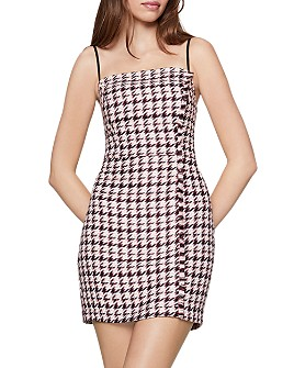 BCBGENERATION - Houndstooth Tweed Mini Dress