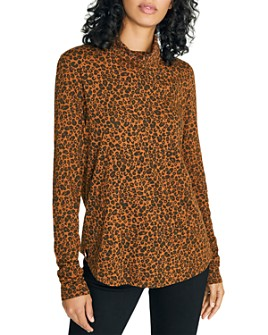 Sanctuary - Leopard-Print Turtleneck Top