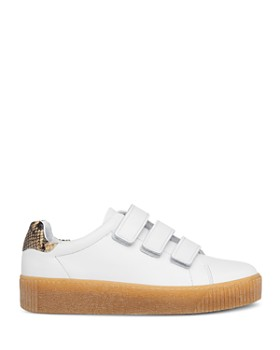 Whistles - Women's Flax Snake-Print Low-Top Sneakers