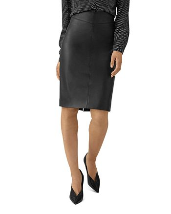 KAREN MILLEN - Faux Leather Pencil Skirt
