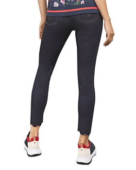 Ted Baker - Yesenia Embroidered Jeans in Dark Wash