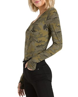 n:philanthropy - Boot Camouflage-Print Bodysuit