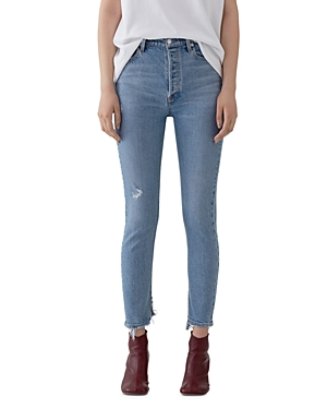 Agolde Nico High Rise Slim Jeans in Headlines-Women