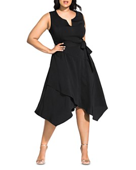 City Chic Plus - Notched Handkerchief Dress