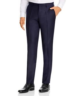 BOSS - Genius Flannel Slim Fit Suit Pants